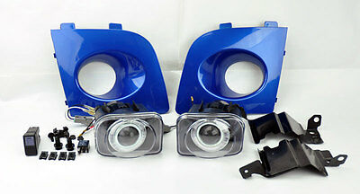 Subaru Impreza/WRX/Sti 06-07 JDM Projector Halo Fog Lights w/ Covers W R Blue