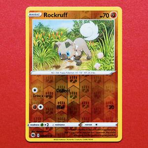 Pokemon Card - Rockruff Reverse Holo - Champion's Path 029/073 * Champions 29