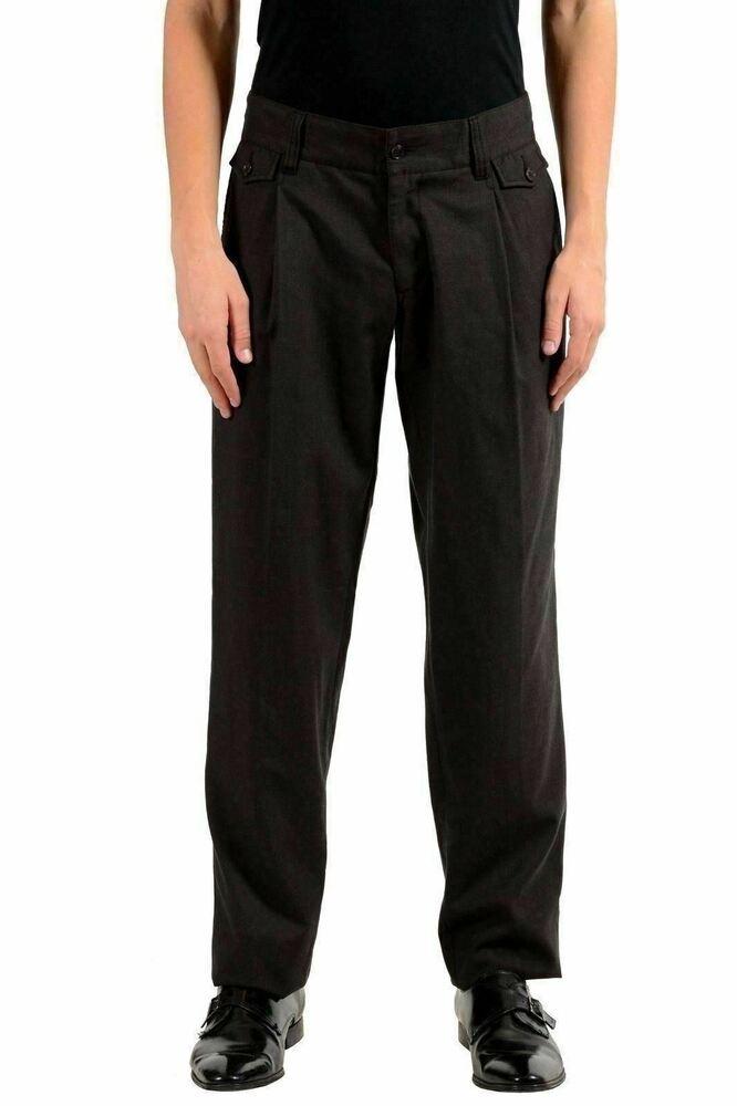 Aimable Dolce & Gabbana Homme Laine Marron Plissé Robe Pantalon Us 32 It De Haute Qualité Et Peu CoûTeux