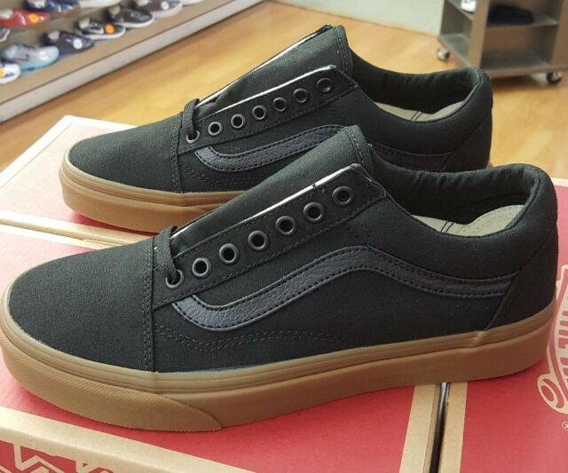 VANS Old Skool Canvas Gum Vn0a31z9l0d Black gum Men US Sz 9 for sale ... bde4cf3b0