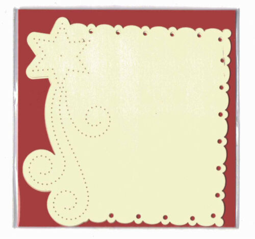 Stitch BEM5725 Star Square Cream set of 3 Luxury Card Layer Punch Cards