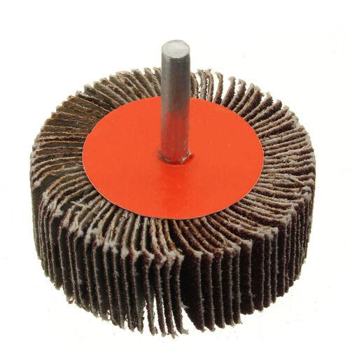 25mm 80mm Sanding Flap Grind Wheels Disc Shaft Mounted Abrasive Drill 40 Grit