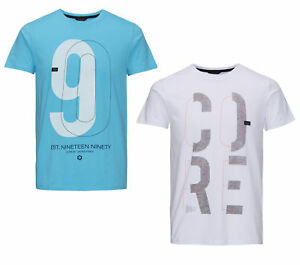 JACK-amp-JONES-CORE-Herren-T-Shirt-jcoVICTO-TEE-SS-CREW-NECK-rundhals-kurzarm-NEU
