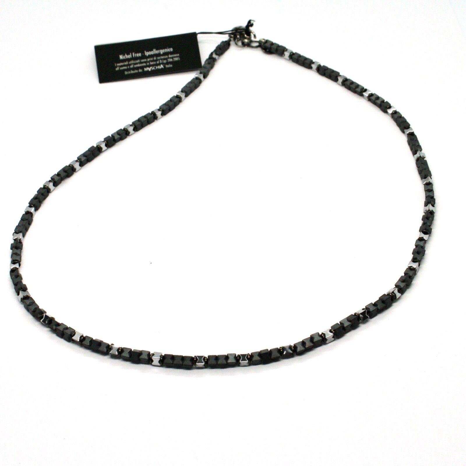 Collar de silver 925 Bruñido con Hematita Pulida Made IN  por Varonil