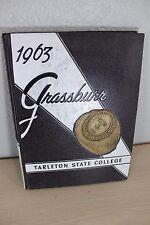 1963 Grassburr Tarleton State College Stephenville Texas Yearbook