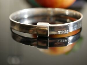 Toller-925-Silber-Armreif-Markenschmuck-Esprit-Verstellbar-Vintage-Armspange-Top