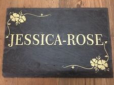 Slate name plate any message Engraved in slate or slate tile Very good quality!!