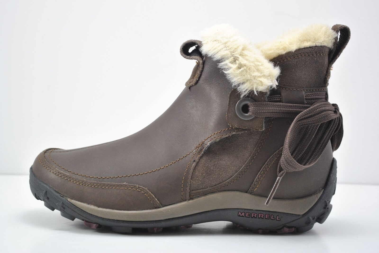 Womens Merrell Misha Winter Waterproof Brown Leather Boots Size 5 J55894