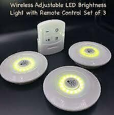 LED COB Light 3 piece set with Remote Control - wireless and bright