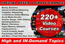 220 Video Courses High And In Demand Topics With Resale Rights
