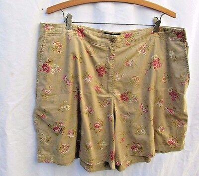 Vintage Lauren Ralph Lauren Shorts Floral Womens 18 100% cotton