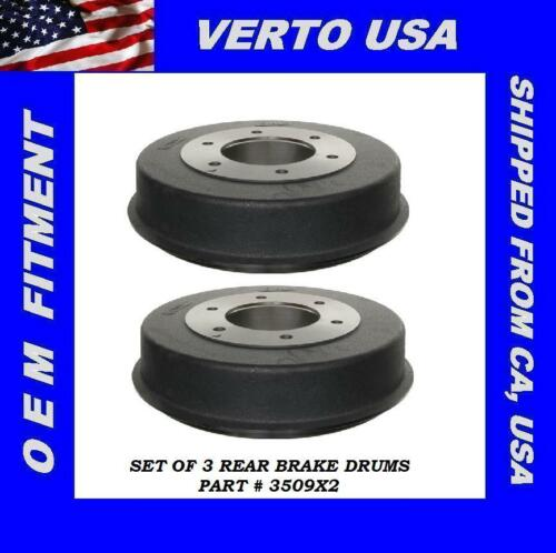 fit Nissan   3509X2 Verto USA Set Of 2 Brake Drums