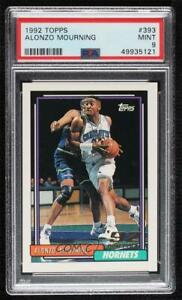 1992-93 Topps Alonzo Mourning #393 PSA 9 MINT RC Rookie HOF