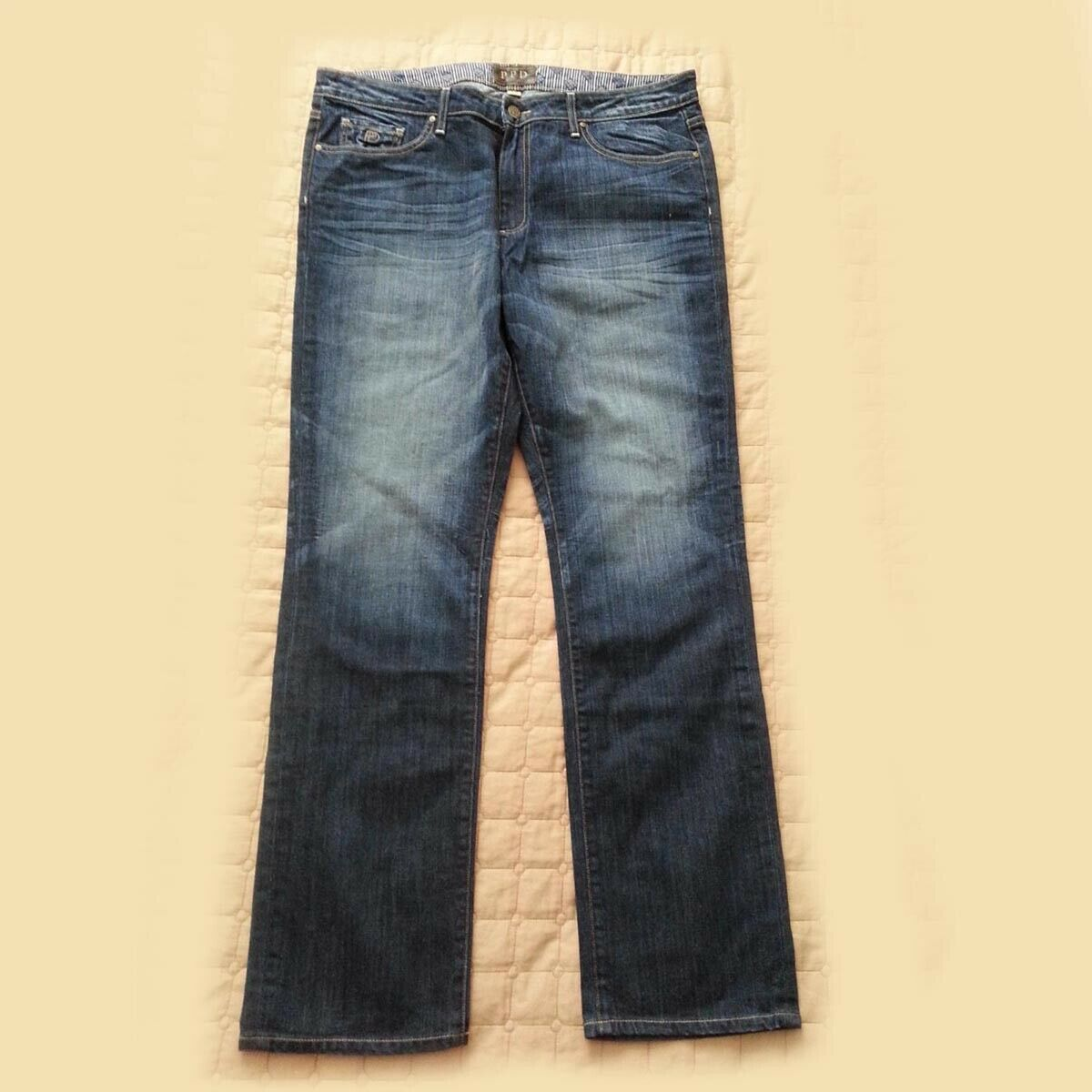 PAIGE Men's Normandie Slim Straight Jean Size 38x34 Made in USA
