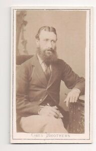 Vintage-CDV-Distinguished-Victorian-Gentleman-Grey-Bothers-Photo