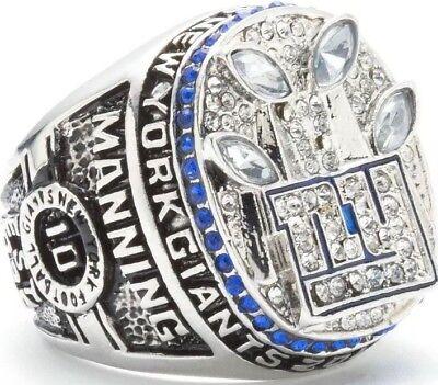 American Football Meisterschafts Ring Superbowl New York Giants Manning Größe 13
