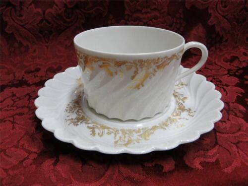 Haviland Ladore s Cup and Saucer Set Gold Floral