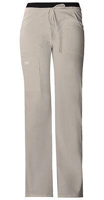 Khaki Cherokee Scrubs Workwear Core Stretch Drawstring Cargo Pants 24001 KAKW
