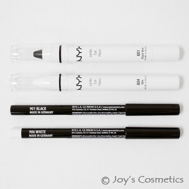 "NYX ""2 Jumbo & 2 Slim Pencil"" Combo set A : ""Black&Milk""  *Joy's cosmetics*"