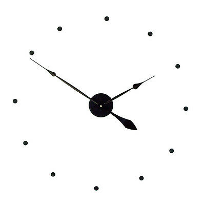 """Make Your Own Large 25"""" Wall Clock w/ Hands,  Cover & Dots Silent Sweep Motor"""