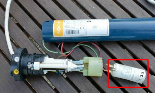 pour moteur SOMFY ou SIMU de volet roulant ou store Condensateur de 3.5 uF µF