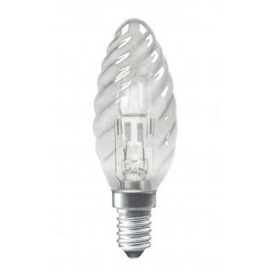 10 x 42w ES Energy Saving Halogen Dimmable Clear Candles E27//Large Edison Screw 55w Light Output