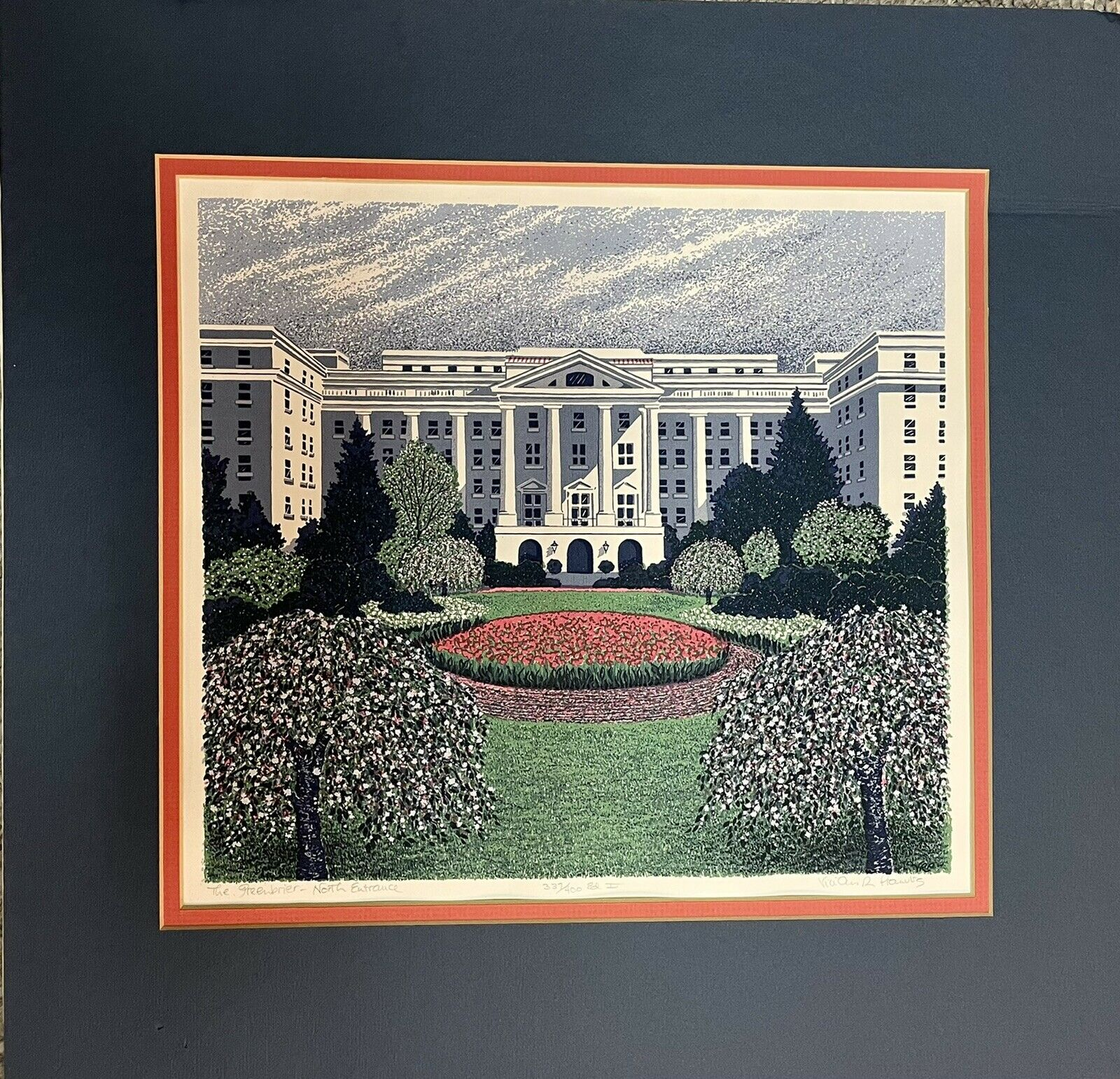 Vivian R. Pranulis Limited Edition Seriagraph Signed #337/400 The Greenbrier WV on eBay thumbnail