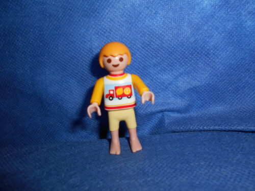 Playmobil 70192 Junge gelb blond barfuss Aufdruck Truck LKW unbespielt top