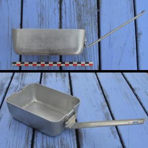Gamelle de camping ancienne, gamelle casserole, très bon état, longueur 15 cm, l