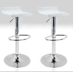 Dettagli su Coppia di 2 Sgabelli da Pub Bar Cucina in Ecopelle Imbottita Modello Graziano