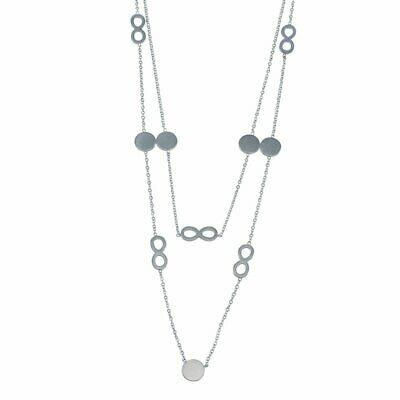 Freundschaftlich Edelstahl Kette Mit Anhänger Unendlich Schleife Damenkette Silber Lang Modern Halsketten & Anhänger Modeschmuck