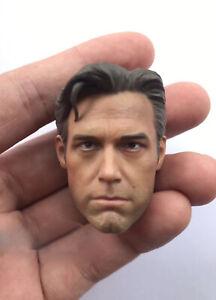 Eleven Ben Affleck Batman Custom Head Sculpt neck armour Cape for Custom Figure