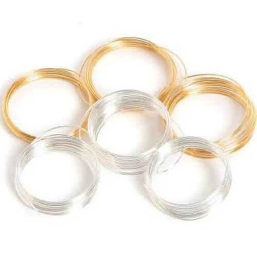 6 M Assorted diámetro 0.5 mm Plata//Oro Copper Craft cables de alta calidad