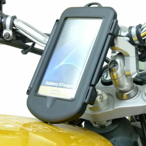 15-17mm Impermeable Motocicleta Yoke del vástago Montaje encaja Galaxy S7 Edge