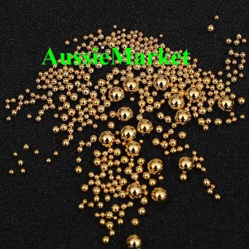 100 x spacer gold beads jewellery mixed sizes ladies girls plastic metallic new