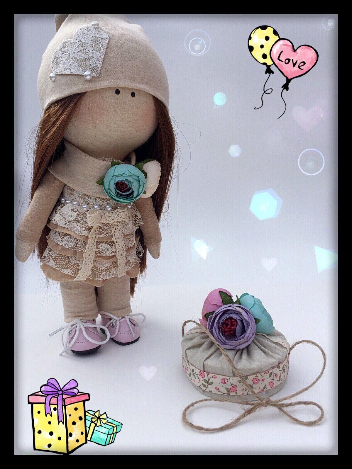 Muñeca Tilda, tela textil muñeca, muñeca, muñeca de colección por artista deseos clarté