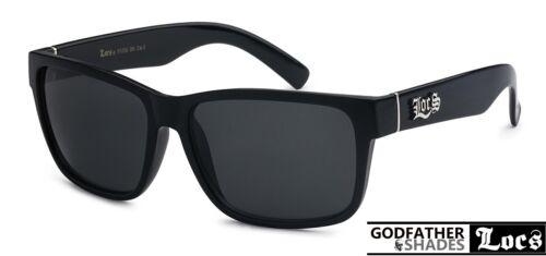 Authentic LOCS Hardcore Cholo Gangster Sunglasses BLACK Classic 80s Shades 91070