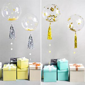 10PCS Round Bubble Ballon Traceless Transparent Balloon Wedding Party Decor