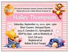 20 Winnie The Pooh Baby Shower Invitations Custom eBay