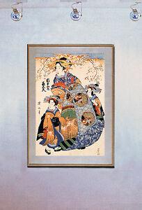 Beautiful Lady 15x22 Japanese Print by Kuniyoshi Asian Art Japan sushi