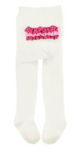 Gymboree NWT Ivory BOW POLKA DOTS RUFFLE BOTTOM DRESS TIGHTS 0 3 6 9 12 Months