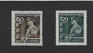 Complete-MNH-Stamp-set-1944-Adolph-Hitler-German-Occupation-Third-Reich