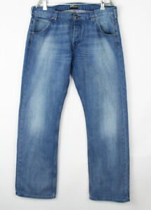 Lee Hommes Flint Jeans Jambe Droite Taille W36 L32