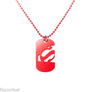 Superman pendant official dog tag symbol superman cut out logo image is loading superman pendant official dog tag symbol superman cut mozeypictures Gallery