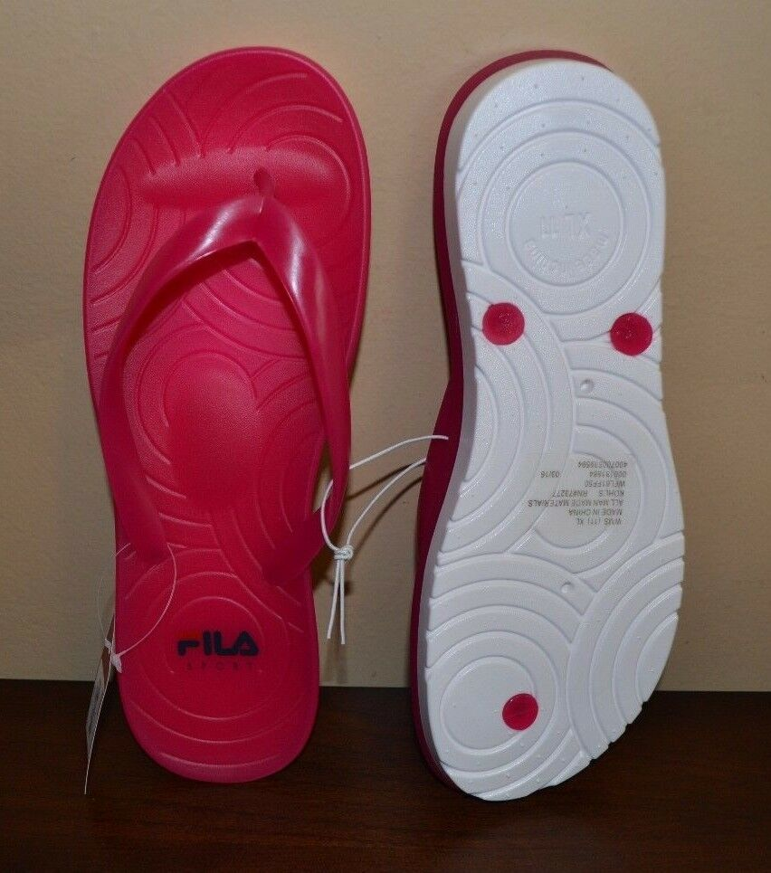 Fila Sport Flip PINK Flop Sandals Summer Beach Shoes Women PINK Flip Flexible Outsole c7f0ea