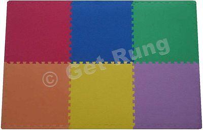 216 sq ft foam mats play tiles gym floor safety mat c multi-color