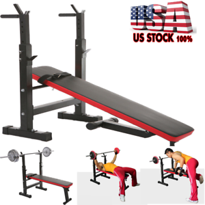 Image Is Loading Adjustable Weight Bench  Dumbbells Lifting Incline Flat Decline