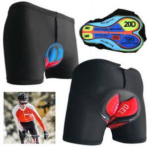 Herren Fahrradhose Sport kurze 3D Gel Gepolsterte Hose Radlerhose für Radsport