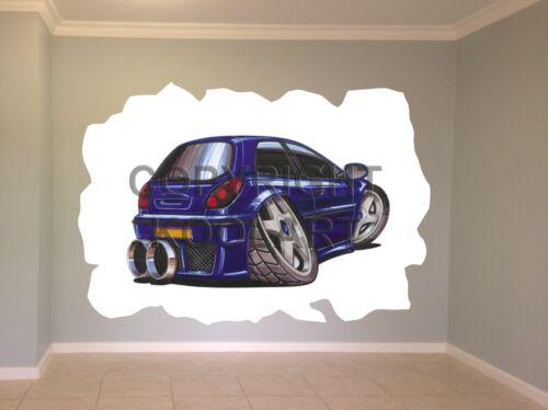 Huge Koolart Cartoon Fiat Bravo Wall Sticker Poster Mural 637