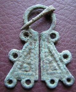 Authentic Ancient Lake Ladoga VIKING Artifact > Fibula Brooch K7